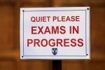 sit exams - F