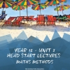 Unit 3 - Head Start Lecture - Maths Methods Notes